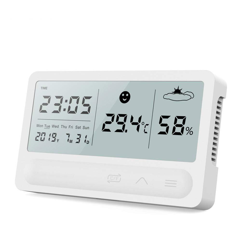 Indoor Thermometer Humidity Meter favorite Wholesale Digital BeigeFamu