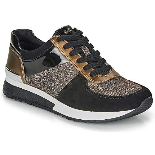 Michael MICHAEL KORS Allie Trainer Sneaker Damen Schwarz/Braun/Kupfer - 38 - Sneaker Low
