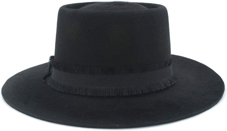 Black Pork Pie Wool Felt Handmade for Men Women Warm Soft and Comfortable Hats