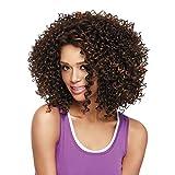 Kinky Curly Wig In Haarverlängerungen Für Frauen Perücke Kopfbedeckungen,Black-Brown