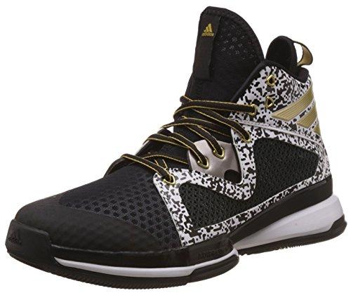 adidas Adizero PG, Zapatillas de Baloncesto para Hombre, Negro/Dorado/Blanco (Negbas/Dormet/Ftwbla), 47 1/3 EU
