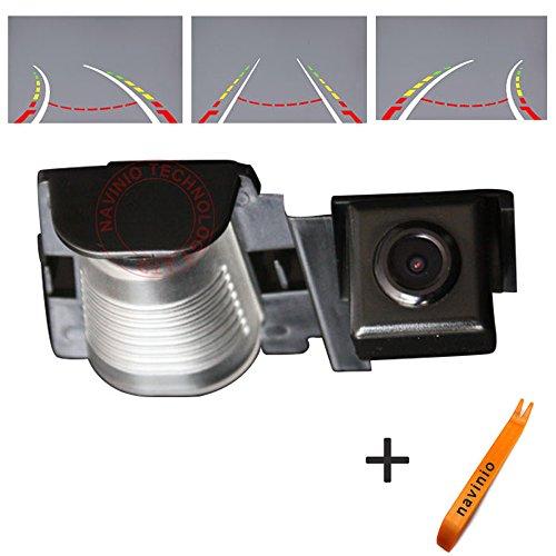Navinio Règle de reversing track caméra de recul avec le volant, vue arrière pour Jeep Wrangler Rubicon/Sahara/Unlimited Sahara