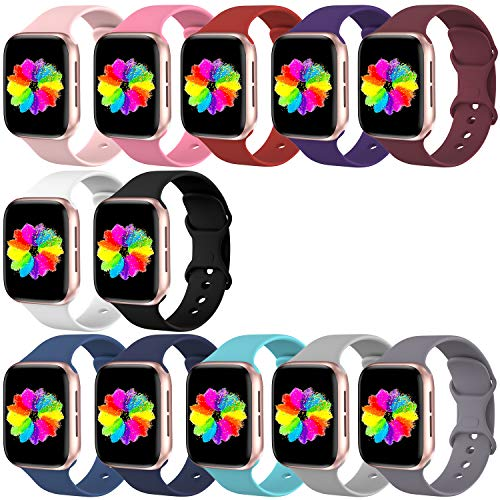 Bravely klimbing Compatible with App le Watch Band 38mm 40mm 42mm 44mm, for Women Men, iwatch Bands Compatible with iWatch Series 5, Series 4, Series 3, Series 2, Series 1 S/M, M/L 12 Pack
