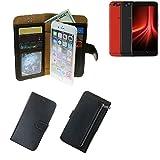 K-S-Trade® Schutzhüll Für UMIDIGI Z1 Pro Schutz Hülle Portemonnaie Case Phone Cover Slim Klapphülle Handytasche E Handyhülle Schwarz Aus Kunstleder (1 STK)