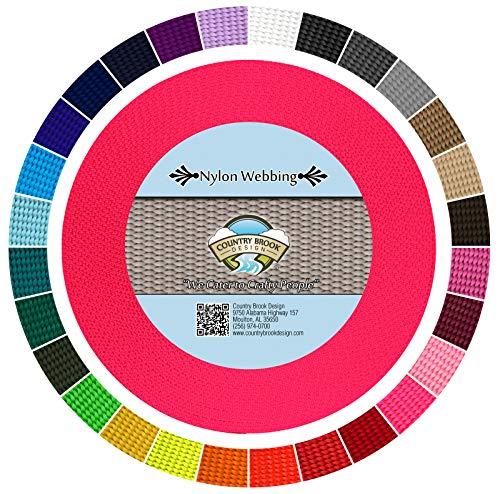 Country Brook Design - Hot Pink 3/4 Inch Heavy Nylon Webbing (10 Yards)