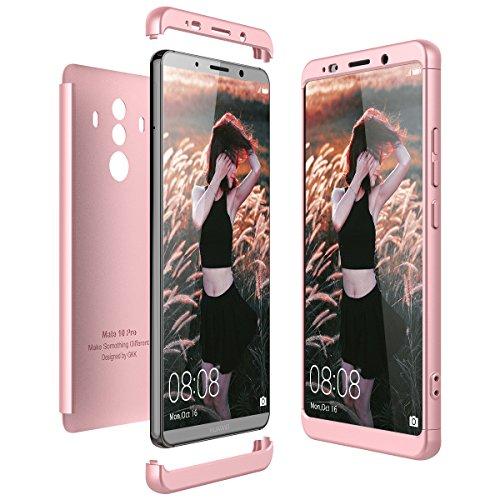 CE-Link Cover Huawei Mate 10 PRO 360 Gradi Full Body Protezione Custodia Huawei Mate 10 PRO Silicone Rigida Snap On Struttura 3 in 1 Antishock e Antiurto Case AntiGraffio Molto Elegante - Oro Rosa