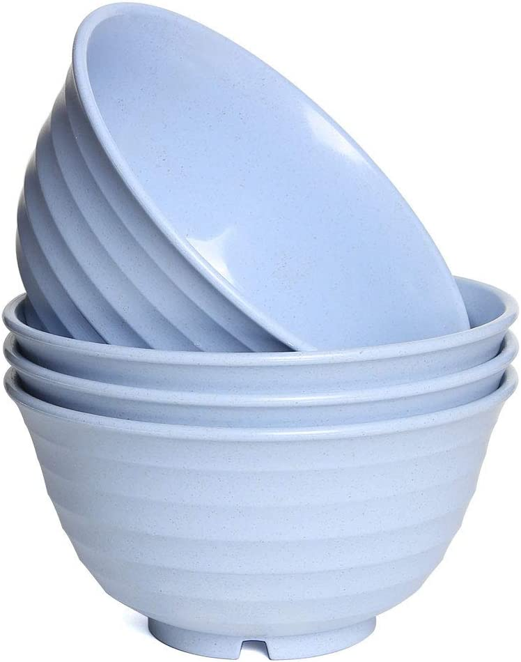 Unbreakable Washington Mall Soup Bowls Set of 4 online shopping Straw for Noo Bowl Cereal Wheat