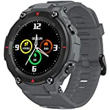 AllCall Smart Watch,Fitness Tracker for Men Women with Blood Oxygen(SpO2) Meter Heart Rate Monitor IP68 Waterproof,Long Battery Life Smartwatch for iPhone Android Phones (Grey)