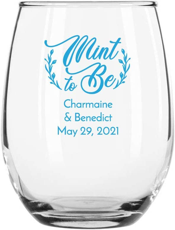 144 Max 68% OFF Pack shop Lucky In Love Blue OZ Glass 9 Stemless Wine