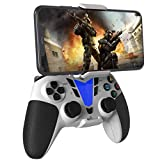 DarkWalker Wireless Bluetooth Controller, Mobile Controller for iOS 13 or later Support MFI-Compatible Games - Android 10 Cloud Gaming Support Xcloud Stadia Shadow - PS4 White