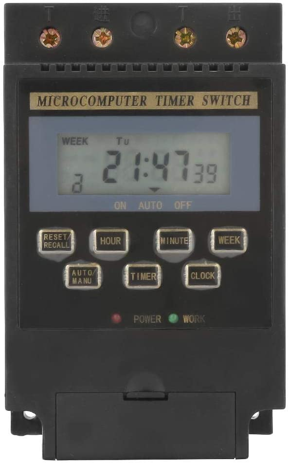 Max 54% OFF Digital Time Switches Atlanta Mall 4.72.92.3in Swit Programmable AC220V