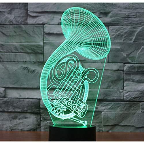 LLZGPZXYD 3D LED nachtlampje Sax Music Instruments Saxofoon met 7 kleuren licht voor huishoudtextiel lamp Verbazingwekkende visualisatie optisch Touch.