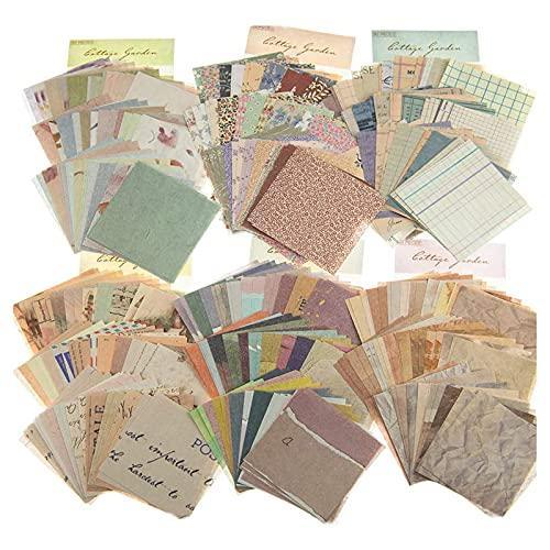 DTMEFJ 360 Blätter Scrapbooking Papier Klein Vintage Blumen Scrapbooking Vintage Aufkleber Stempel Scrapbooking Aufkleber für Tagebuch Notizbuch DIY Kunst und Handwerk (6 Packungen)
