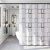 Duschvorhang 180x200,Wasserwürfel Duschvorhänge,Wasserdichter Badezimmervorhang,Duschvorhang 3D Wasserwürfel,Waschbar Duschvorhang,Duschvorhang Transparent Weiß,Duschvorhang