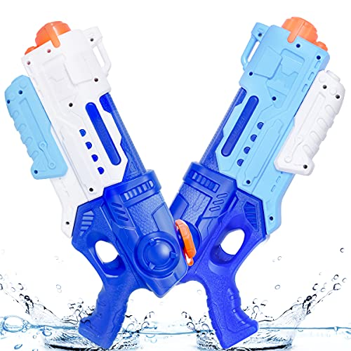 2 Pack Water Gun for Kids Adults, 900CC Super Blaster Water Soaker Beach Swimming Pool Water Party Squirt-Guns Outdoor Game Gift
