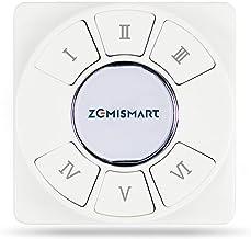 zemismart 6 Gang Tuya Zigbee Interruptor de Cena Sem Fio, Controle Remoto Interruptor Inteligente de 18 Cena Botão de cont...