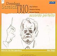 「ACCORDO PERFETTO(完全和音)シリーズVol.1」ハインリッヒ・フォン・ヘルツォーゲンベルク(1843-1900):弦楽三重奏曲/マックス・レーガー(1873-1916):弦楽三重奏曲op.77b