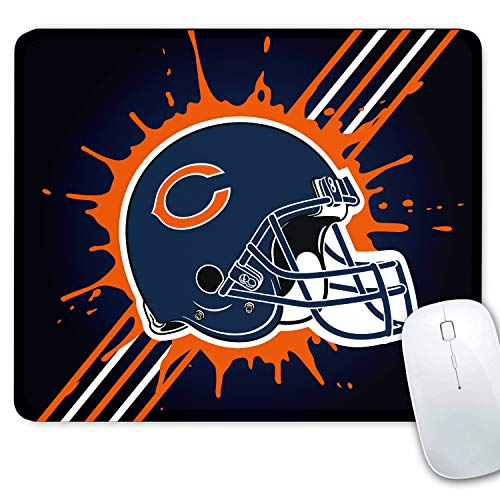 CANDICE NFL Mouse Mat/Square Gaming Mouse Pad 11.8x9.8x0.1Inch   Creative Custom Non-Slip Mouse Mat  Improved Precision and Speed   Rubber Base for Stable Grip(Chicago Bears)
