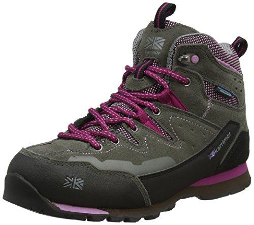 Karrimor Damen Tech Approach Mid Ladies W'tite Trekking- & Wanderstiefel, Grau (Grey/pink), 38 EU
