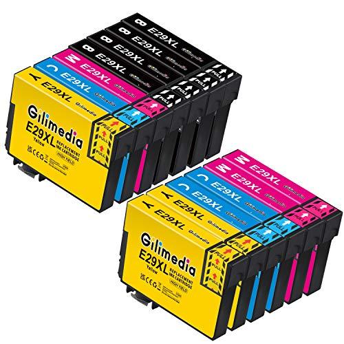 Gilimedia 29XL Cartuchos de tinta para Epson 29 29XL Tinta para Epson Expression Home XP-235 XP-245 XP-247 XP-255 XP-257 XP-332 XP-335 XP-342 XP-345 XP-352 XP-355 XP-432 XP -435 XP-442 (paquete de 13)