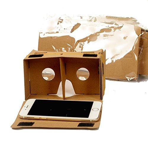 1 Paar Die VR-Gläser Virtual Reality Box 3D Carton Google Pappe DIY Video-Film-Game-Viewer Brille mit einstellbar.