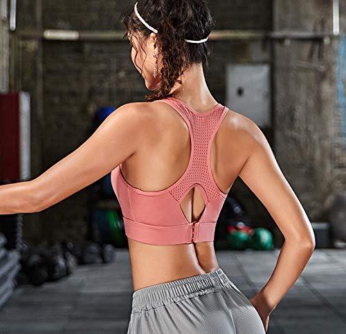 Sujetador deportivo para mujer Sujetador deportivo sin costuras Sujetador deportivo para yoga Sujetador deportivo flaco Sujetador deportivo push-upChaleco sujetador fitness-Victoria's Secret Powder_L