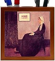 Rikki Knight James Abbot Mcneill Whistler Art Whistlers Mothers Design 5-Inch Wooden Tile Pen Holder (RK-PH3031) [並行輸入品]