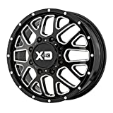 xd series 17x8 - XD SERIES GRENADE DUALLY GLOSS BLACK MILLED - FRONT GRENADE DUALLY 17x6.5 8x200.00 GLOSS BLACK MILLED - FRONT (111 mm) RIMS