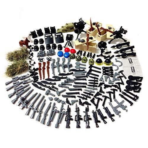 HYZM Juego de armas militares WW2, juego de armas militares alemán para soldados, minifiguras SWAT, bloques de construcción militares, compatibles con Lego