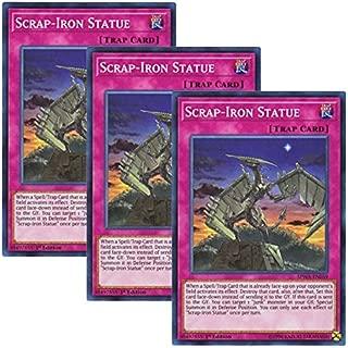 Yu-Gi-Oh! y3 Pieces setz English Version SPWA-EN 059 Scrap-Iron Statue Statue of Kurumetsu (Super Rare) 1st Edition