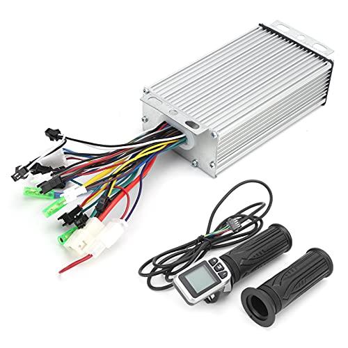 Shanrya Controlador de Bicicleta eléctrica 36 V / 48 V, Buen Controlador de disipación de Calor con Pantalla LCD Acelerador de Pulgar para Bicicleta eléctrica para Scooter eléctrico