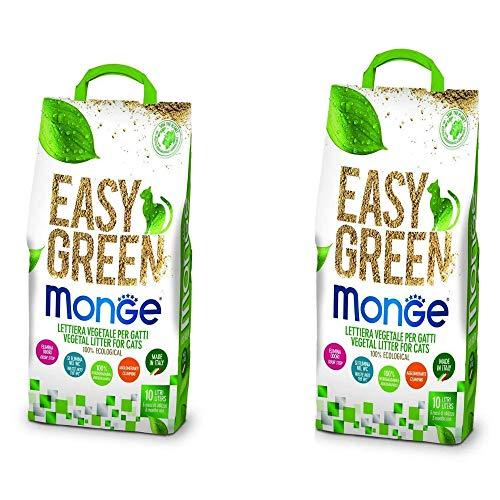 lettiera VEGETALE MONGE Easy Green Gatto Gatti furetti rettili Cat 10 Litri biodegradabile WC 2/3/6 Sacchi SPEDIZIONE Gratuita (2 Pezzi)