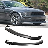 GT-Speed - CV Type-2 Style PU Front Bumper Lip - Compatible With 2005-2009 Ford Mustang V8 Bumper Only (Not Compatible With V6 Bumper)