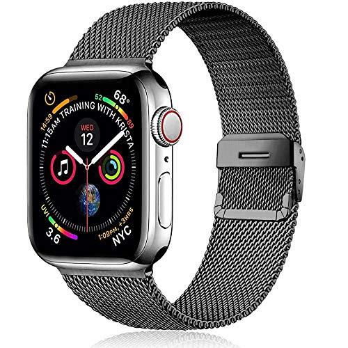 Fawyhr Correa de Milanese para Apple Watch Band 44mm 40mm IWatch Band 42mm 38mm Pulsera de Acero Inoxidable de Metal de Metal de 42 mm 38 mm Serie DE Reloj DE Apple 4 3 5 SE 6