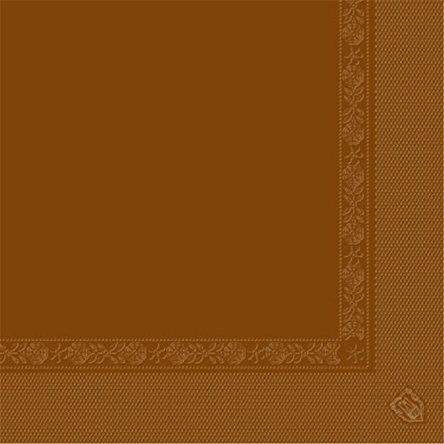 Garcia de Pou 1600 unité Serviettes 2 Plis 18 g/m² en boîte, 40 x 40 cm, Papier, Chocolat, 30 x 30 x 30 cm