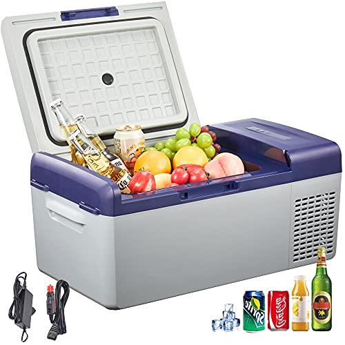 Auto Kühlbox 15 Liter, Tragbare Kompressor Kühlbox, 12/24 V DC/ 220-240 Volt AC für Auto, Lkw, Boot, Reisemobil und Steckdose, Lila