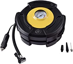 SHENMATE Portable Air Compressor Pump, 12V 150 PSI Emergency Electric Tire Pump for Cars, Trucks, Bikes, Balls and Other Inflatables with 3 Air Nozzles, Auto Tire Inflator with Pressure Gauge