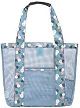 ANANXILA - Bolso de Playa para Mujer (Cristal), Transparente, Azul
