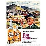 Wee Blue Coo Advert Drink Alcohol Scotch Whisky Long John USA 30X40 CMS Fine Art Print Art Poster BB6871