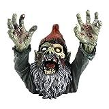 Design Toscano CL6565 Zombie Gnombie Gothic Decor Garden Gnome Graveyard Statue, 11 Inch, Full Color