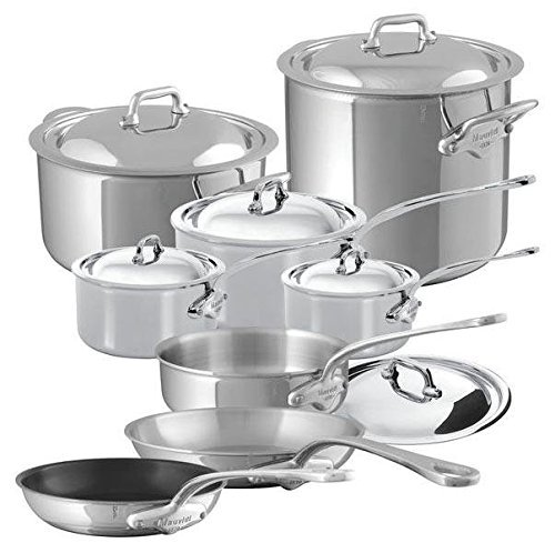 Mauviel M'Cook - 14 Piece Set - (5210.15, 5210.17, 5210.21, 5211.25, 5242.24, 5213.30, 5231.25, 5232.25)
