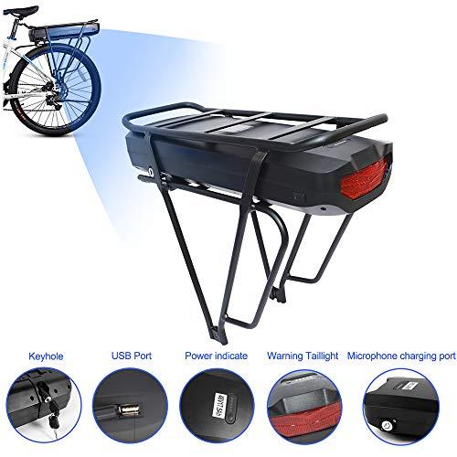 Bafang Bicicleta eléctrica BBS02B 48V 750W Kit de conversión de Bicicleta de montaña con Motor Central Bicicleta de EBike con batería de 48V 11.6/17.5Ah Hailong/Portaequipajes Batería /52V 14A