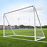 QUICKPLAY Q-Fold Soccer Goal   The 30 Second Folding Soccer Goal for Backyard [Single Goal] The Best Weatherproof Soccer Net for Kids and Adults 2YR Warranty (2) 8x5'