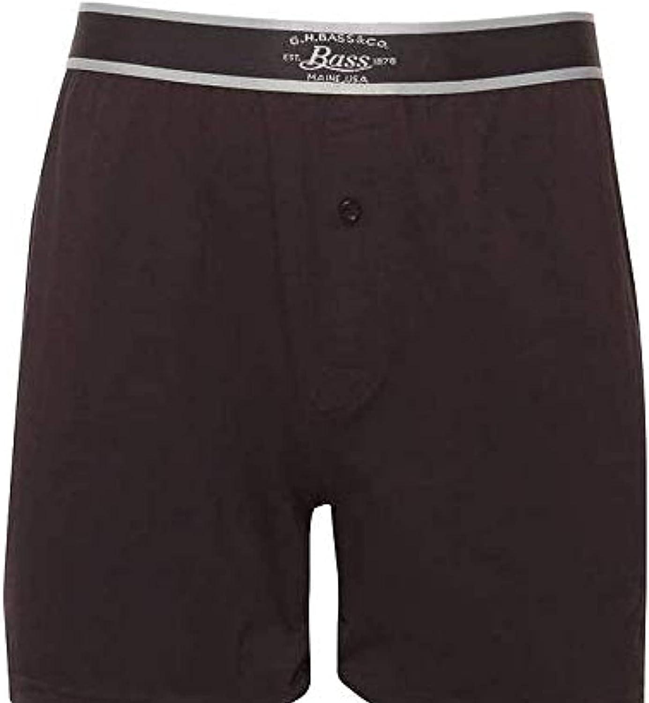 G.H. Bass & Co Cotton Stretch Knit Boxers 3pk (Black/Grey)