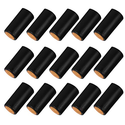 NUOBESTY 100 cápsulas termorretráctiles de PVC, para bodega, botella de vino, uso doméstico, color negro