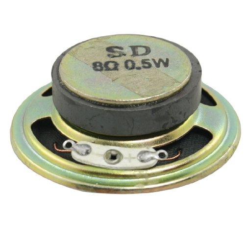 uxcell 2 inches Diameter Round Metal Shell External Magnet Speaker 8 Ohm 0.5W