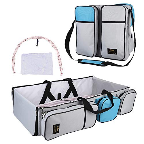 xingxinqi 3 in 1 Travel Bassinet Foldable Baby Bed Portable Diaper Changing Station Mummy Bag Portable Bassinet Crib Changing Station Diaper Bag for Infants and Newborns The Best for New Mom and Dad
