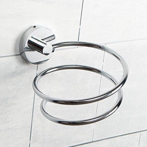 TAPCET Soporte para secador de Pelo sin rastros, Gancho de Pared para Fijar el secador de Pelo sin Taladro (Trompeta)