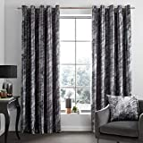 Catherine Lansfield Marble Cortinas con Ojales, Mezcla de algodón, Gris, Eyelet Curtains-66x90 Inch, 2