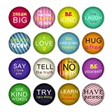 HSJH 16PCS Fridge Magnet Creative Assorted Lovely Refrigerator for Halloween Letter Crystal Glass Office Cabinets Whiteboards Photos Beautiful Decorative Home School (Letters)